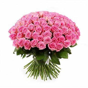 Розовые розы 101