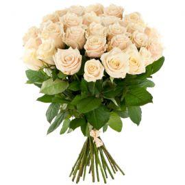Кремовые розы 25