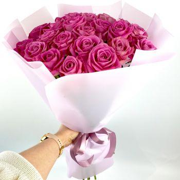 Розовые розы 25