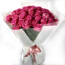 Розовые розы 51