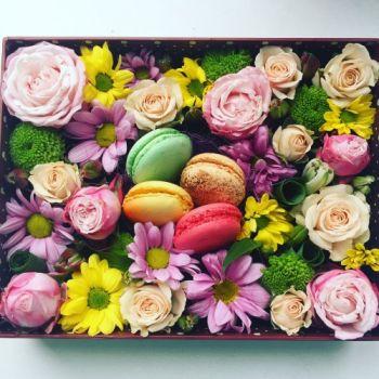 Роза и хризантема