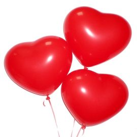 """Набор из 3 шаров сердце """"С любовью"""""""