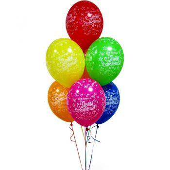 Набор из 7 шаров С Днем Рождения